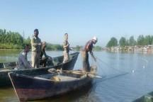 قایق های پارویی و ادوات شکار غیرمجاز در لاهیجان کشف شد
