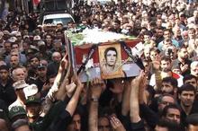 پیکر شهید نبی الله  محسنی در شهرضا  تشییع شد