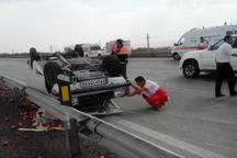 واژگونی خودرو در زیرکوه یک کشته و 2 مجروح برجا گذاشت