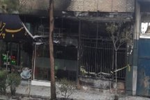 یک فروشگاه رنگ در سبزوار آتش گرفت