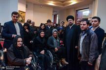 دیدار معلولان موسسه خیریه شهید قربانی شهرستان ملارد با یادگار امام