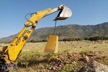 اجرای طرح کمربند حفاظتی منابع طبیعی «بنچ مارک» در شهرستان رومشکان