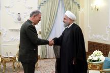 استقبال رئیسجمهور از گسترش و تقویت همکاریهای دفاعی تهران – آنکارا