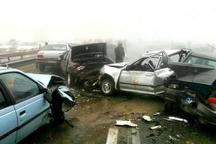 تصادف زنجیره ای در دامغان 2 مصدوم برجا گذاشت