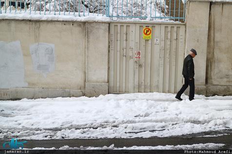 بارش برف بهاری در فیروز کوه / تصاویر