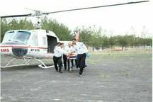 امداد رسانی بالگرد اورژانس به سیل زدگان گلستان
