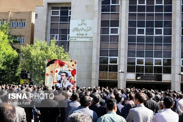 پیکر جانبار هشت سال دفاع مقدس در دانشگاه تبریز تشییع شد