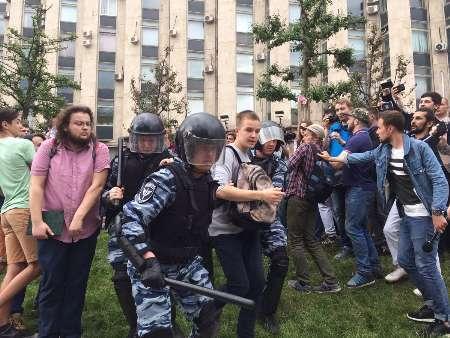 شماری از معترضان در روسیه بازداشت شدند