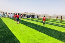 زمین چمن مصنوعی مینی فوتبال روستای تابکتل نیکشهر افتتاح شد