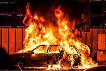 آتش سوزی خودرو در کرج یک کشته و یک  مصدوم داشت