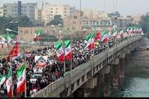 جلوه زیبای اتحاد اقوام خوزستانی در راهپیمایی 22 بهمن
