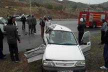 تصادف خودروها در سامان یک کشته برجا گذاشت