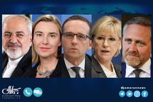 ظریف با موگرینی و وزرای دانمارک، سوئد و آلمان گفت و گو کرد