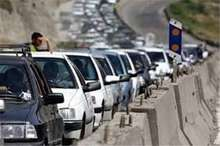 افزایش تردد نوروزی در جاده های مازندران   ترافیک در سه محور اصلی سنگین است