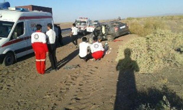 واژگونی 2 خودرو در جاده سبزوار - شاهرود 9 مجروح برجای گذاشت