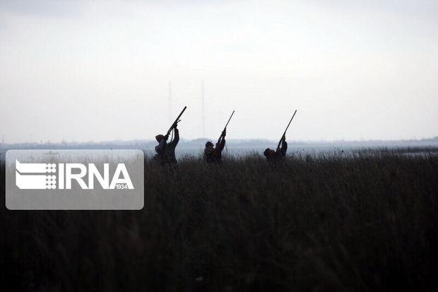 متخلفان شکار غیرمجاز در ابهر دستگیر شدند