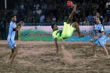 تیم فوتبال ساحلی اردکان از بوشهر شکست خورد