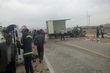 تصادف در جاده خوسف - خور 2 کشته برجا گذاشت