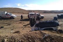 سوانح رانندگی در گلپایگان سه مجروح برجا گذاشت