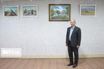 نمایشگاه نقاشی از جاذبههای استان سمنان گشایش یافت