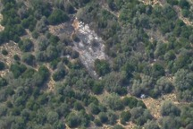 عکس/ سقوط یک فروند هواپیمای ارتش آمریکا