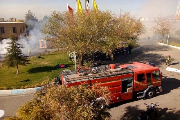 رزمایش حمله تروریستی در قزوین برگزار شد