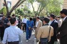 صحنه سرقت مسلحانه از بانک مسکن اصفهان بازسازی شد