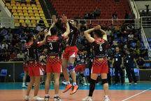 سرعتی زن والیبال شهرداری ارومیه بازی با گنبد را از دست داد