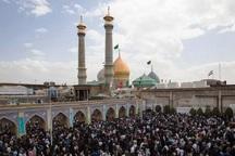 قبله تهران در سالروز شهادت حضرت فاطمه (س) غرق در ماتم شد