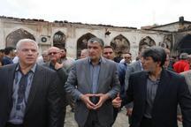 مسجد تاریخی سوخته شهر ساری مرمت می شود