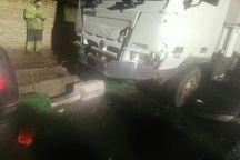 تصادف خودرو سواری با کامیونت در تهران یک کشته داشت