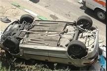واژگونی خودرو در شهرضا دو کشته داد