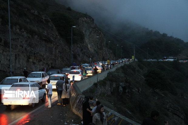 افزایش ترافیک در جادههای همدان