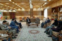 کارکنان خبرگزاری ایرنا با استاندار قزوین دیدار کردند