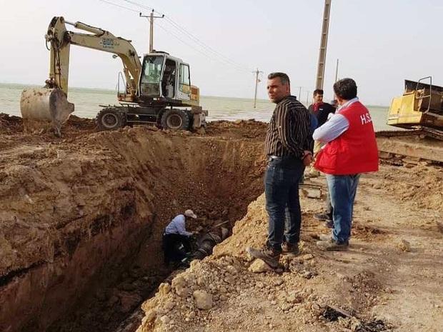 خط انتقال بنزین آبادان به شهر ری تعمیر شد