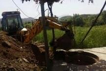 انسداد ۹ حلقه چاه غیرمجاز در شهرستان مریوان