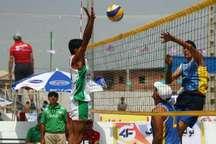 لیگ برتر والیبال ساحلی  صدرنشینی نماینده گلستان با کسب سومین برد