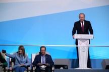 ولادیمیر پوتین در رقابت های یونیورسیاد ۲۰۱۹ و اهدای مدال قهرمانان + عکس