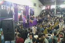 جشن پیروزی هواداران دولت تدبیر و امید در چالوس برگزار شد