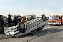 واژگونی پژو پارس در زنجان یک کشته و 2 مصدوم برجا گذاشت