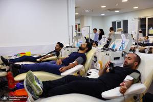اهدای خون در شب بیست و سوم ماه مبارک رمضان