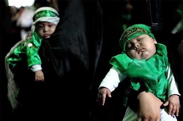 طنین نوای جانسوز لالایی علی اصغر در حسینیه ثارالله یاسوج