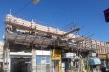 پیشرفت 55 درصدی پروژه مغازههای سنگی در فاز جداره سازی