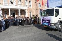 13 کامیون حامل کمکهای مردمی شهرستان ارومیه به مناطق سیل زده لرستان ارسال شد