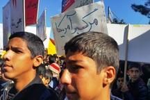 مراسم روز ملی مبارزه با استکبار در تربت حیدریه برگزار شد