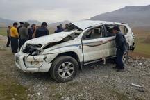 واژگونی خودروی پرادو یک کشته و 2 مصدوم به جا گذاشت