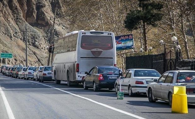 اعمال محدودیت ترافیکی عصر جمعه در جاده کرج - چالوس