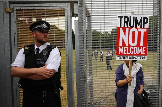 تظاهرات علیه دونالد ترامپ در لندن+تصاویر