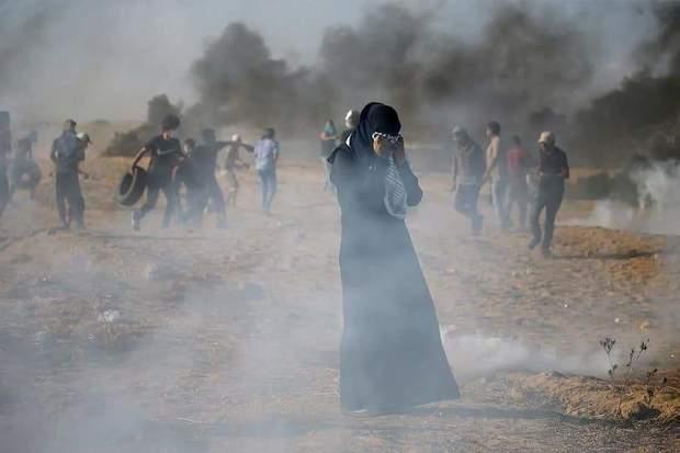 تصاویر/ بیش از 220 شهید و زخمی در راهپیمایی غزه