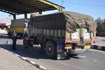 محموله 2.5 میلیاردی کالای قاچاق در جاده اندیمشک -خرم آباد توقیف شد